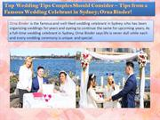 Tips from a Famous Wedding Celebrant in Sydney
