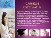 Osteopathic Doctor In Australia | Osteopathic Manipulative Treatment