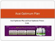 Acai Optimum Plan and Acai Optimum Promo