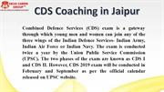 CDS Coaching in Jaipur