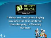 4 Things to Know before Buying Insurance for Cleaning Business