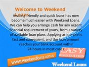 Weekend Payday Loans Suitable Loan Deal with Best Possible Rates