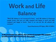 PPT.Work and Life balance