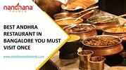 Best Andhra Restaurant in Bangalore You Must Visit Once-converted