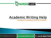 Professional Academic Writing Help | Papers Planet