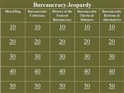 Bureaucracy Jeopardy Review