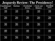 President Jeopardy Review