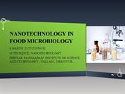 nanotechnology in food microbiology