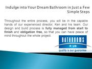 Indulge into Your Dream Bathroom Sydney