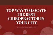 Top Way to Locate the best Chiropractor in your City