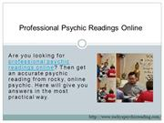 Professional Psychic Readings Online