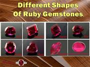 Different Shapes of Ruby Gemstone