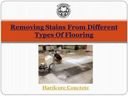 Removing Stains From Different Types Of Flooring