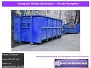 Dumpster Rental Burlington – Purple Dumpster