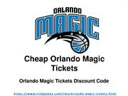 Orlando Magic Tickets Discount