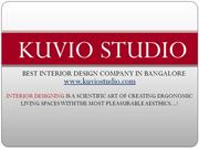 Kuvio Studio - The Trending Interior Design Company in Bangalore