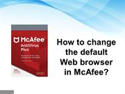 How to change the default Web browser in McAfee?