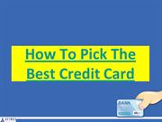 How To pick Credit Card