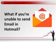 What if you're unable to send Email in Hotmail?