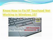 Know How to Fix HP Touchpad Not Working