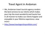 Travel Agent in Port Blair PPT