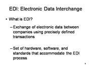 EDI-Electronic data Interchange