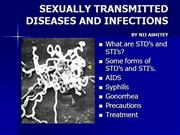sexually transmitted diseases and infect