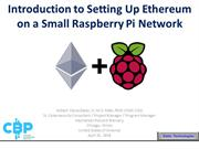Introduction to Setting up Ethereuon on a Small Raspberry Pi Network