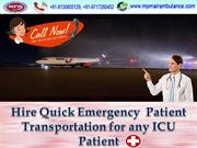 Fully equipped with ICU Facility by MPM Air Ambulance Service