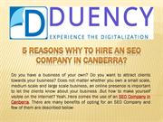 5 Reasons why to hire an SEO Company in Canberra