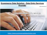 Data Entry Services Provider in India