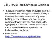 Gill Grewal Taxi Service in Ludhiana PPT