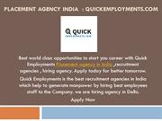 Placement agency in india