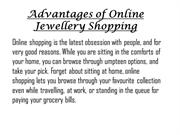 Advantages of Online Jewellery Shopping | Buy Online Jewellery