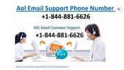 Aol Email Support Phone Number +1-844-881-6626