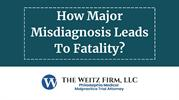 How Major Misdiagnosis Leads To Fatality?