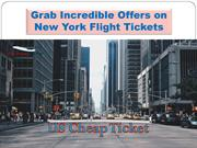 Grab Incredible Offers on New York Flight Tickets
