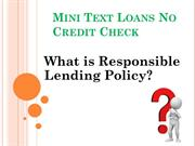 Mini text loans no credit check