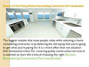 Beware Of The Cheap Kitchen Remodeling Contractors Fort Lauderdale