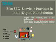 Best SEO  Services Provider In India