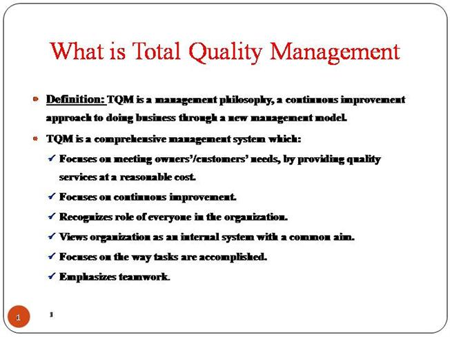 Ppt total quality management (tqm) powerpoint presentation id.