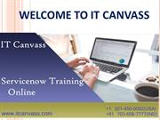 Servicenow Training Online | Certification | IT Canvass