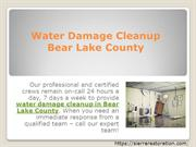 Water damage cleanup bear lake county