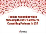 Remembering point when choosing Salesforce Consulting Partners in USA