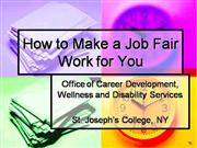 St. Joseph's College: Job Fair Prep.