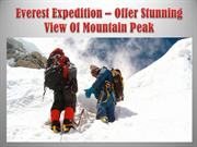 Everest Expedition – Offer Stunning View Of Mountain Peak