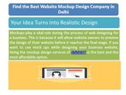 Looking for the Best Quality Website Mockup Design Services in Delhi
