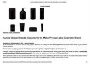 Aurora Global Brands- Opportunity to Make Private Label Cosmetic Brand