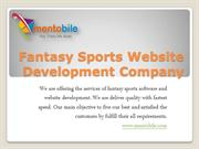 Fantasy Sports Website Development India