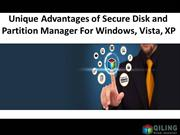 Unique Advantages of Secure Disk and Partition Manager For Windows, Vi